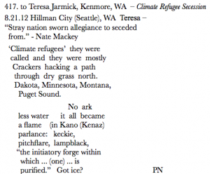 417. to Teresa Jarmick, Kenmore, WA – Climate Refugee Secession