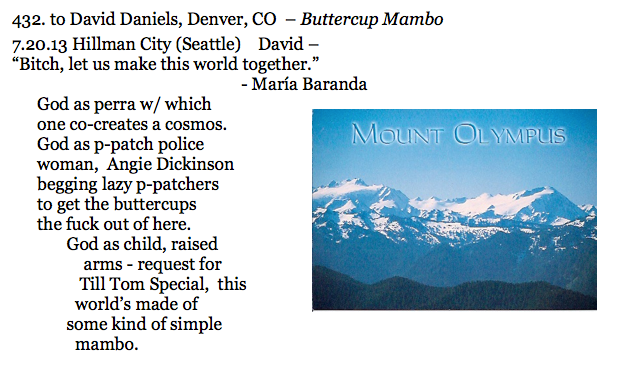 432. to David Daniels, Denver, CO – Buttercup Mambo