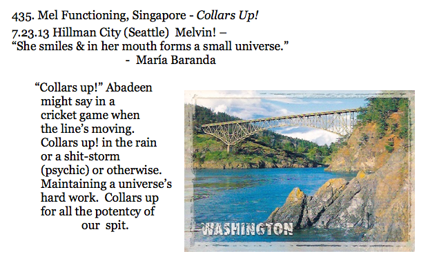 435. Mel Functioning, Singapore - Collars Up!