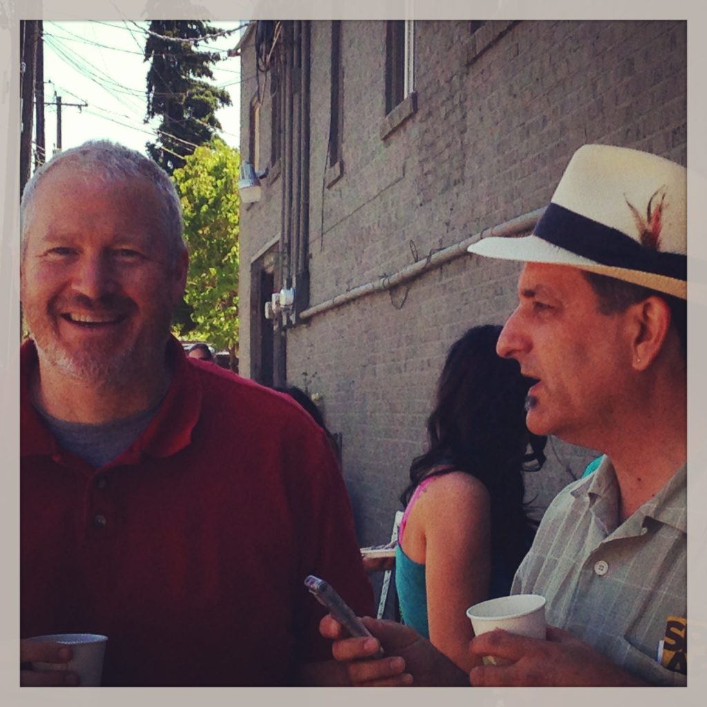 Paul & Mayor McGinn 7.27.13 (Photo: Meredith Nelson)
