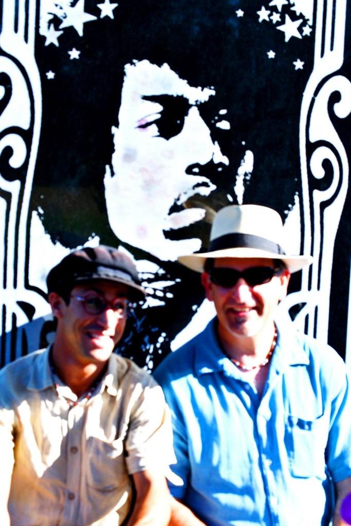 Habib & Paul at the grave of Jimi Hendrix