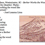 454. Phebe Davidson, Westminster, SC - Berber Works the Wood.