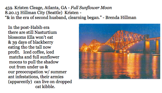 459. Kristen Cleage, Atlanta, GA - Full Sunflower Moon