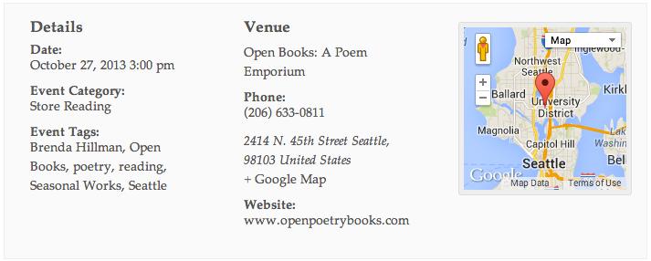 Brenda Hillman at Open Books