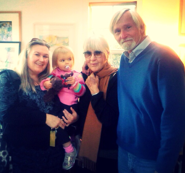 Meredith Nelson, Ella Roque Nelson, Joanne Kyger and Donald Guravich