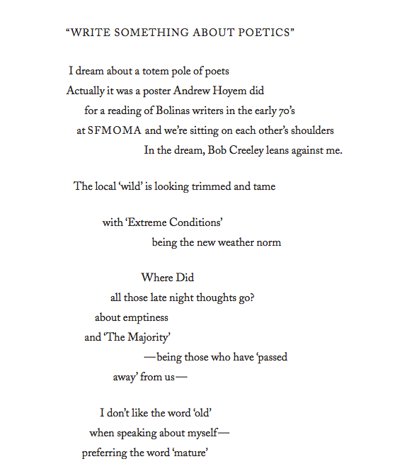 Joanne Kyger Write Something About Poetics (1)