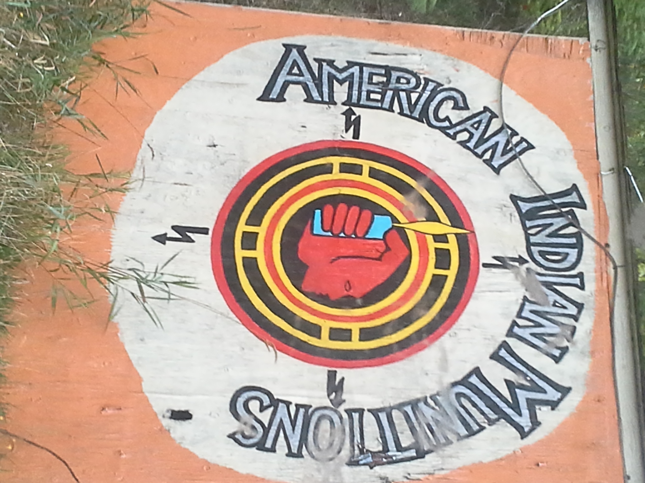 Also outside the park, a nod to the 70s radical American Indian Movement