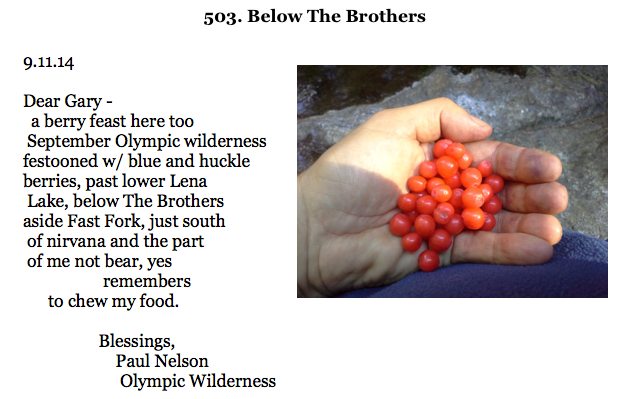 503. Below The Brothers (For Gary Snyder)