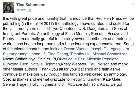 Tina Schuman Two Countries