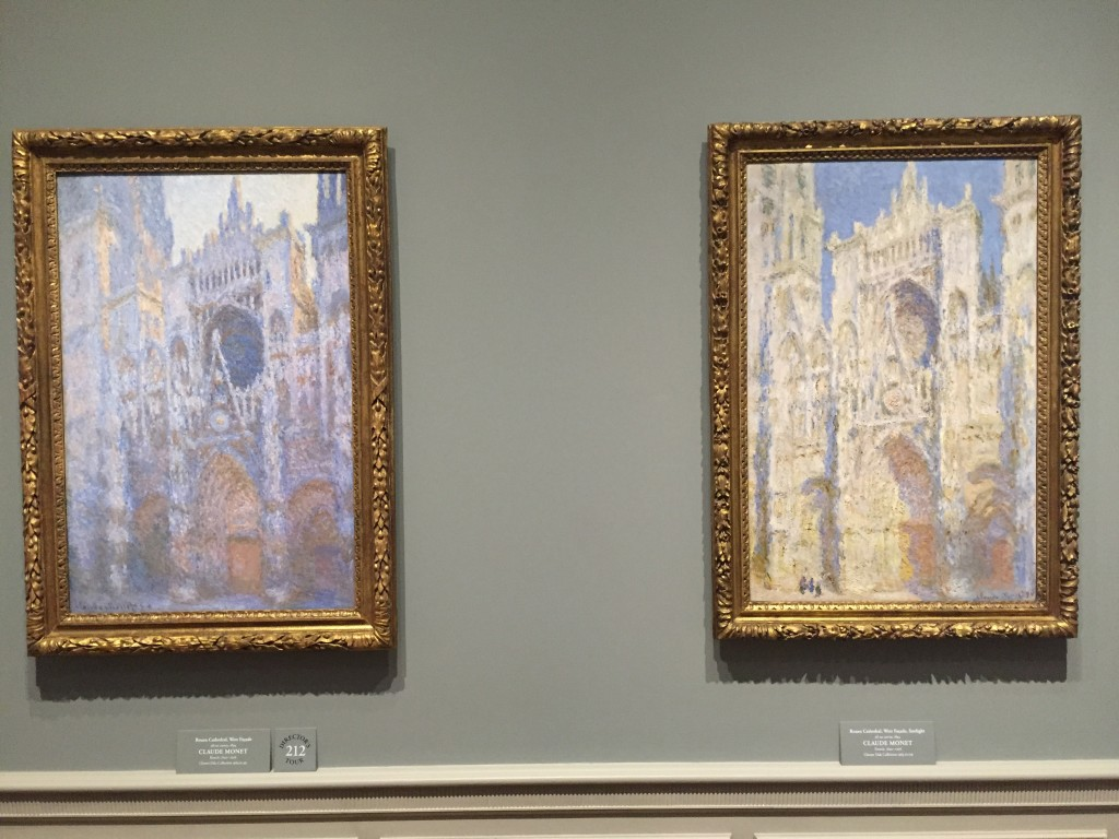 Two editions of Rouen Cathedral, Claude Monet, 1892 and 1894