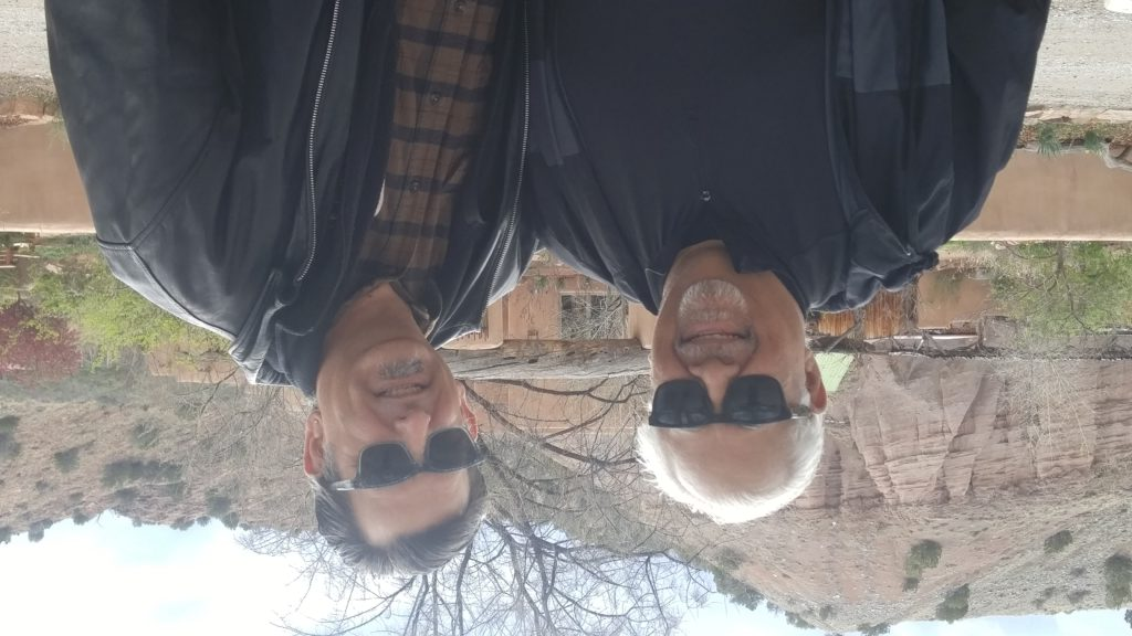 Garcia & the Wily Splabman after a soak at the Ojo Caliente Mineral Springs, New Mexico.