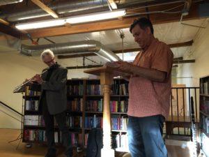 Jim O'Halloran, Paul Nelson, Another Read Through PDX - Photo Lucinda O'Halloran