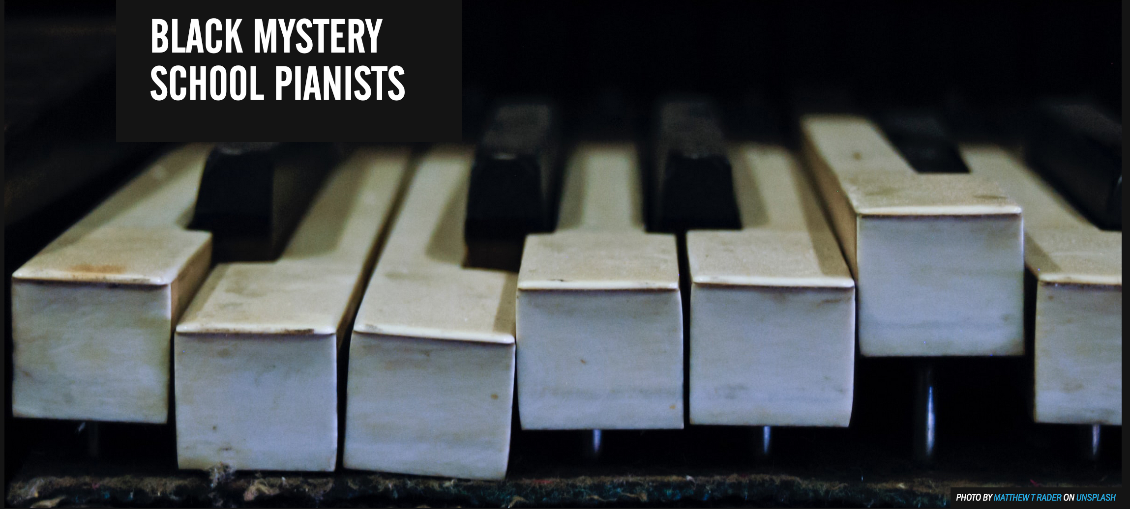 Responding to the Black Mystery School Pianists