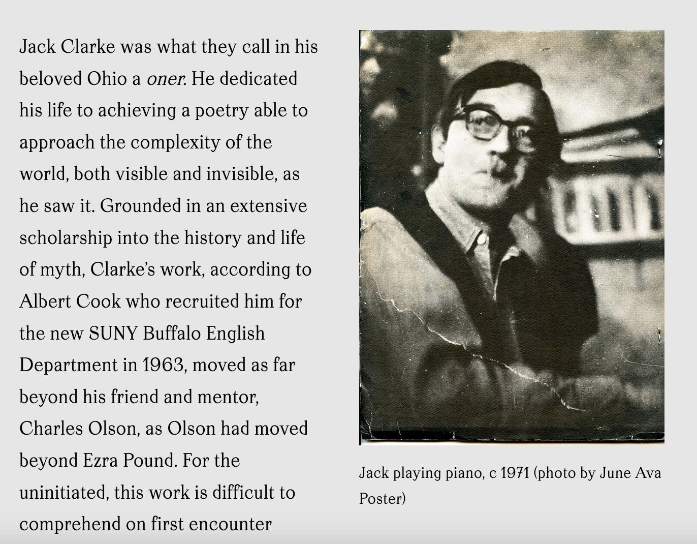 Michael Boughn on Jack Clarke